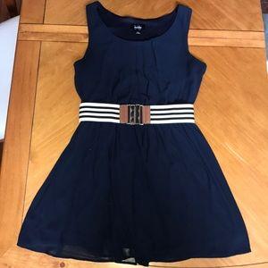 Navy blue flowy summer dress